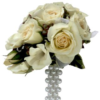 Wrist-corsage-Ivory-Spray-Roses-Pearl-band-Gold-Coast-Florist